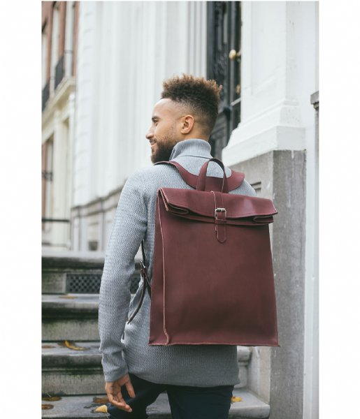 Laauw  Nine Streets Laptop Backpack 15 Inch bordeaux