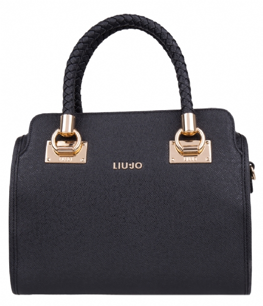 bauletto medium anna bag nero 22222 liu jo the little green bag. Black Bedroom Furniture Sets. Home Design Ideas