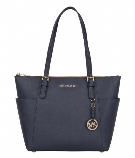 Michael Kors Jet Set Item EW Top Zip Tote Blauw