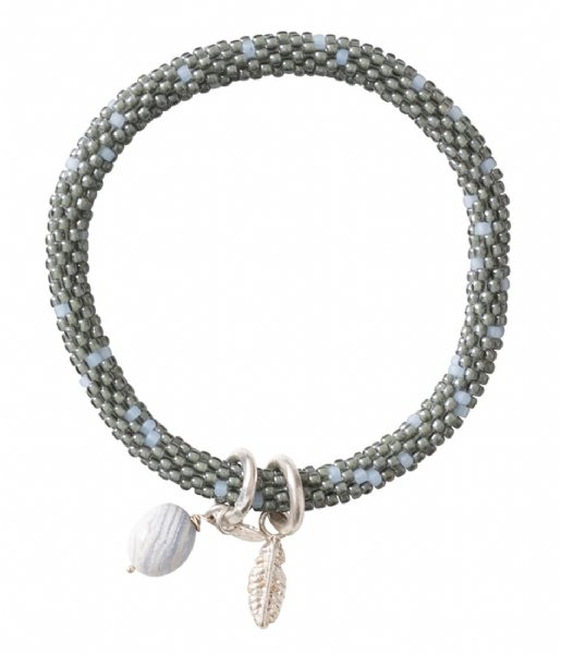 A Beautiful Story  Jacky Multi Color Blue Lace Agate Silver Plated Bracelet silver plated (BL22585)